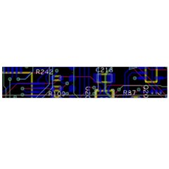 Technology Circuit Board Layout Flano Scarf (Large)