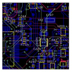 Technology Circuit Board Layout Large Satin Scarf (Square)