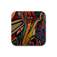 Vivid Colours Rubber Square Coaster (4 pack)
