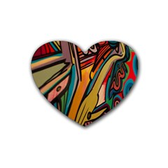 Vivid Colours Rubber Coaster (Heart)