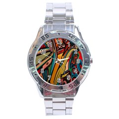 Vivid Colours Stainless Steel Analogue Watch