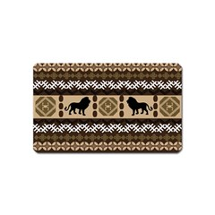 Lion African Vector Pattern Magnet (Name Card)