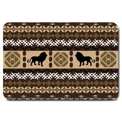 Lion African Vector Pattern Large Doormat