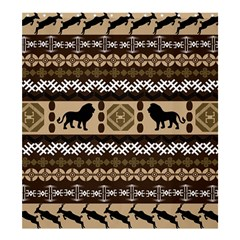Lion African Vector Pattern Shower Curtain 66  x 72  (Large)