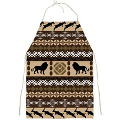 Lion African Vector Pattern Full Print Aprons