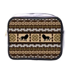 Lion African Vector Pattern Mini Toiletries Bags