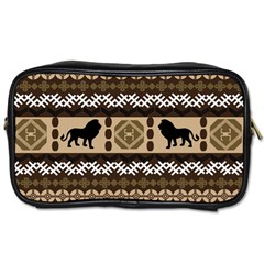 Lion African Vector Pattern Toiletries Bags 2-Side