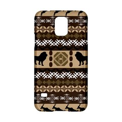 Lion African Vector Pattern Samsung Galaxy S5 Hardshell Case