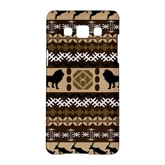 Lion African Vector Pattern Samsung Galaxy A5 Hardshell Case