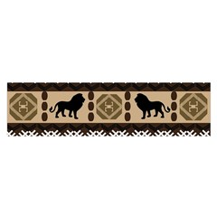 Lion African Vector Pattern Satin Scarf (Oblong)