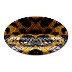 Textures Snake Skin Patterns Oval Magnet