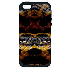 Textures Snake Skin Patterns Apple iPhone 5 Hardshell Case (PC+Silicone)
