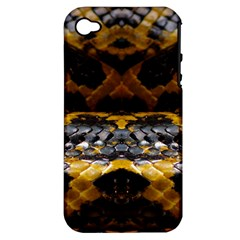 Textures Snake Skin Patterns Apple iPhone 4/4S Hardshell Case (PC+Silicone)
