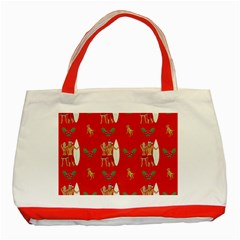 Digital Paper Surfer Couple Classic Tote Bag (Red)