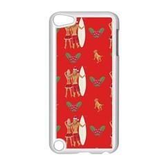 Digital Paper Surfer Couple Apple iPod Touch 5 Case (White)