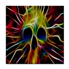 Skulls Multicolor Fractalius Colors Colorful Tile Coasters