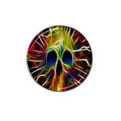 Skulls Multicolor Fractalius Colors Colorful Hat Clip Ball Marker
