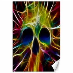 Skulls Multicolor Fractalius Colors Colorful Canvas 20  x 30