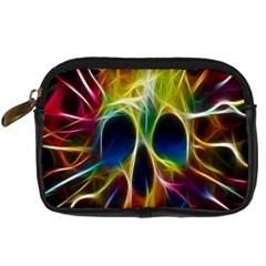 Skulls Multicolor Fractalius Colors Colorful Digital Camera Cases
