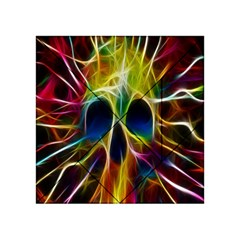 Skulls Multicolor Fractalius Colors Colorful Acrylic Tangram Puzzle (4  x 4 )