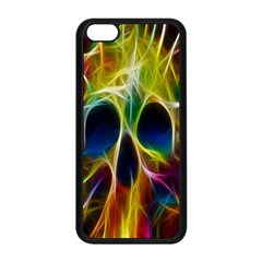 Skulls Multicolor Fractalius Colors Colorful Apple iPhone 5C Seamless Case (Black)