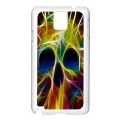 Skulls Multicolor Fractalius Colors Colorful Samsung Galaxy Note 3 N9005 Case (White)