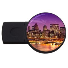 City Night USB Flash Drive Round (2 GB)