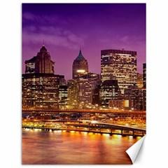 City Night Canvas 12  x 16