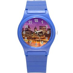 City Night Round Plastic Sport Watch (S)