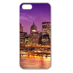 City Night Apple Seamless iPhone 5 Case (Clear)
