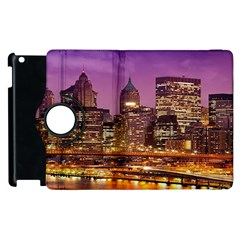 City Night Apple iPad 3/4 Flip 360 Case