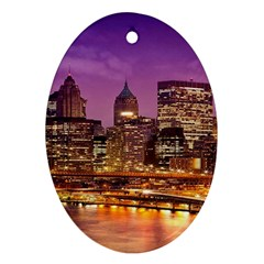 City Night Ornament (Oval)