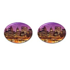 City Night Cufflinks (Oval)