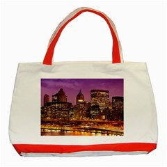 City Night Classic Tote Bag (Red)