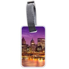 City Night Luggage Tags (Two Sides)