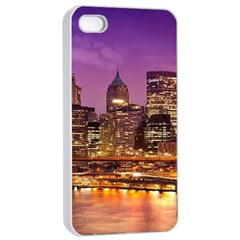City Night Apple iPhone 4/4s Seamless Case (White)