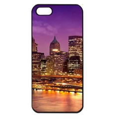 City Night Apple iPhone 5 Seamless Case (Black)