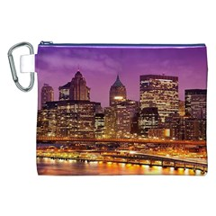 City Night Canvas Cosmetic Bag (XXL)
