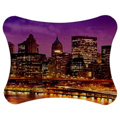 City Night Jigsaw Puzzle Photo Stand (Bow)