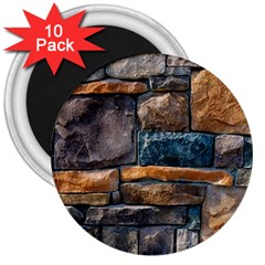 Brick Wall Pattern 3  Magnets (10 pack)