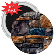 Brick Wall Pattern 3  Magnets (100 pack)