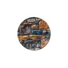 Brick Wall Pattern Golf Ball Marker
