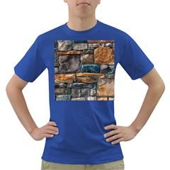 Brick Wall Pattern Dark T-Shirt