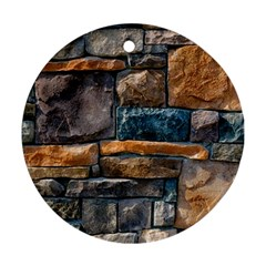 Brick Wall Pattern Round Ornament (Two Sides)