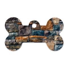 Brick Wall Pattern Dog Tag Bone (One Side)