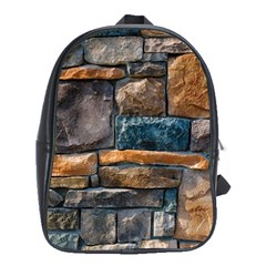 Brick Wall Pattern School Bags(Large)