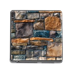 Brick Wall Pattern Memory Card Reader (Square)