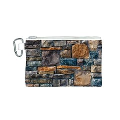 Brick Wall Pattern Canvas Cosmetic Bag (S)
