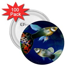 Marine Fishes 2.25  Buttons (100 pack)