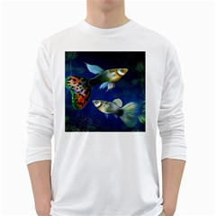 Marine Fishes White Long Sleeve T-Shirts